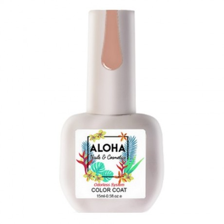 Nail Gel Polish 15ml / ALOHA Nails & Cosmetics - Fashion Report Series FR-006 (Caramel Nude with Shimmer)
